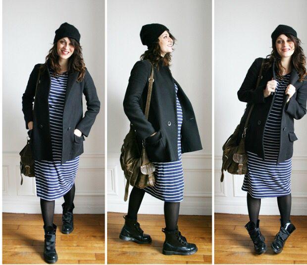 4d20bba0086e Get the look Dr Martens midi dress | Fashion | Maternity coat ...