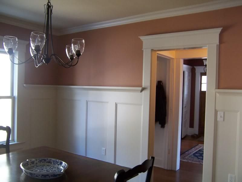 wainscoting ideas | Wainscoting Trim Ideas With Dining Table Wood ...