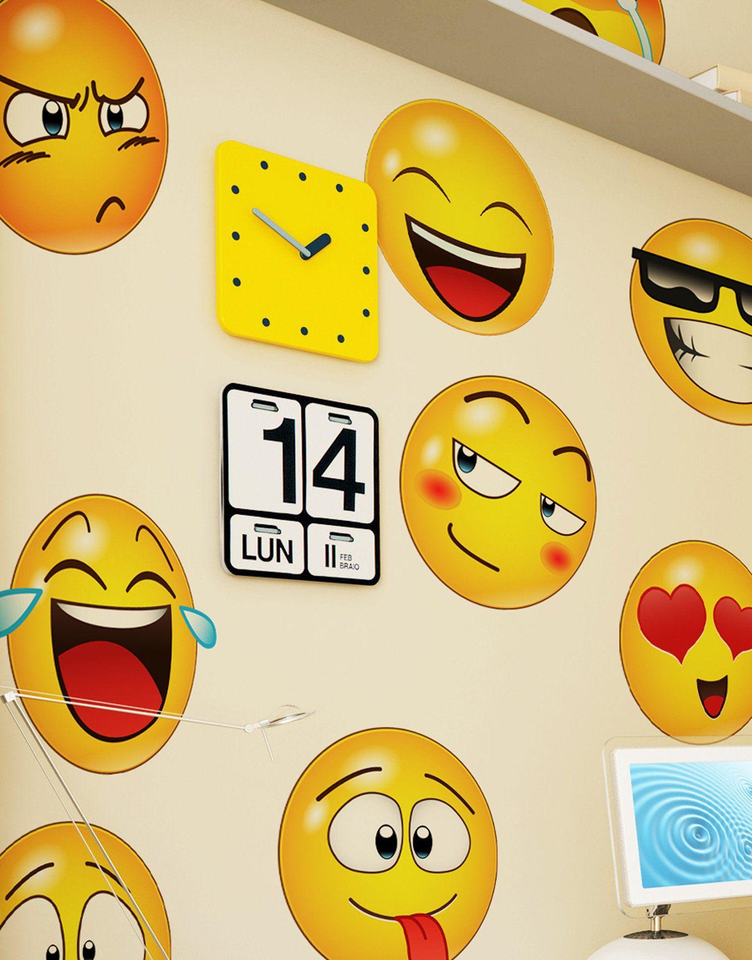 Large Emoji Faces Wall Decal Sticker 6052 Basteln Mit Kindern
