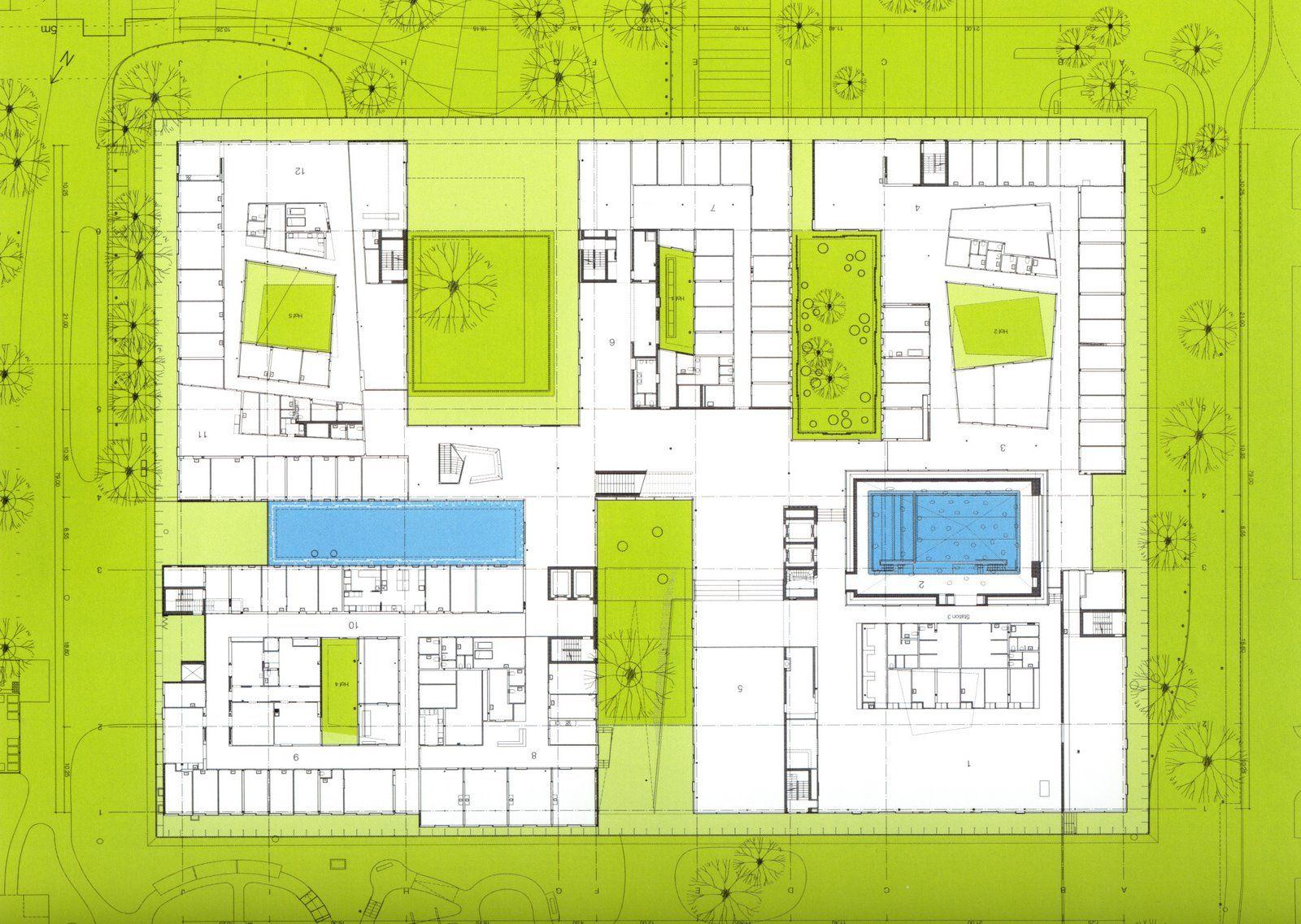 rehab basel herzog de meuron ground floor plan. Black Bedroom Furniture Sets. Home Design Ideas