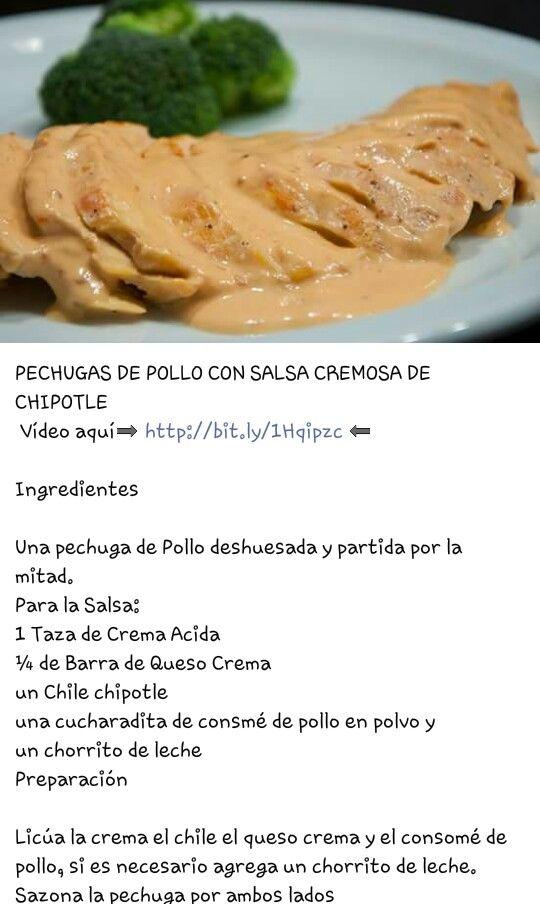 Pechugas de pollo en salsa chipotle | Comida... | Pinterest ...