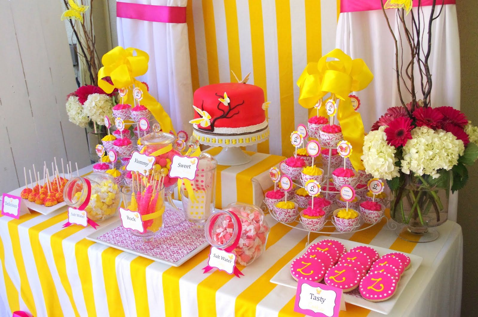 Advertise Dessert And Candy Tables Cake Table Decorations Birthday Birthday Party Tables Butterfly Birthday Party
