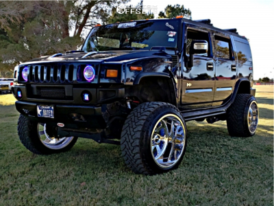 This 2007 Hummer H2 4wd Is Running Fuel Forged Ff12 24x16 101 Wheels Toyo Tires Open Country M T Tires With Rancho Suspension Hummer H2 Hummer Dream Cars Jeep