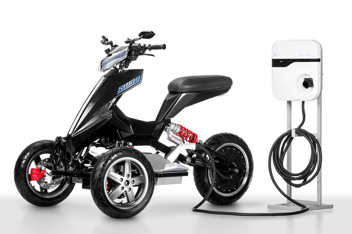 sway is an all electric tilting trike scooter scooters. Black Bedroom Furniture Sets. Home Design Ideas