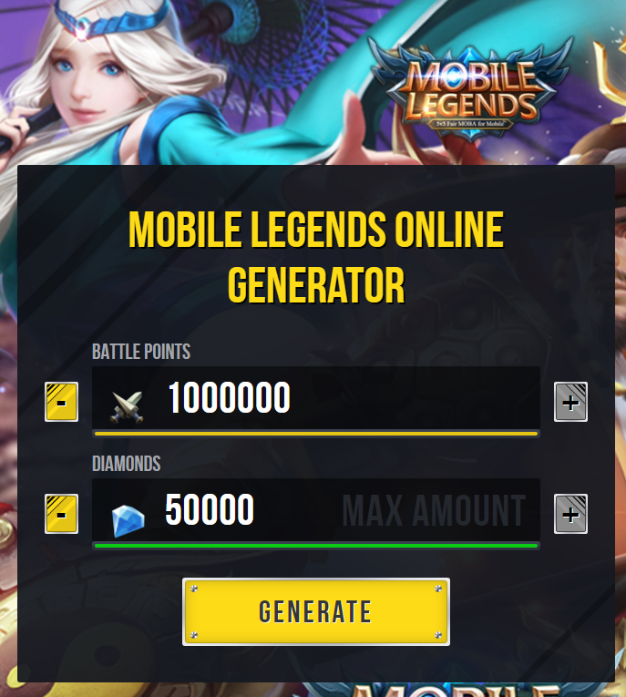 Mobile Legends Hack Tool 2019 — Get Unlimited Free Diamonds and Battle Points