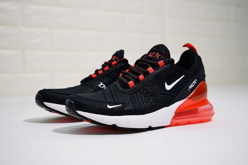 Mens 2018 Spring Summer Nike Air Max 270 Flyknit Black Red