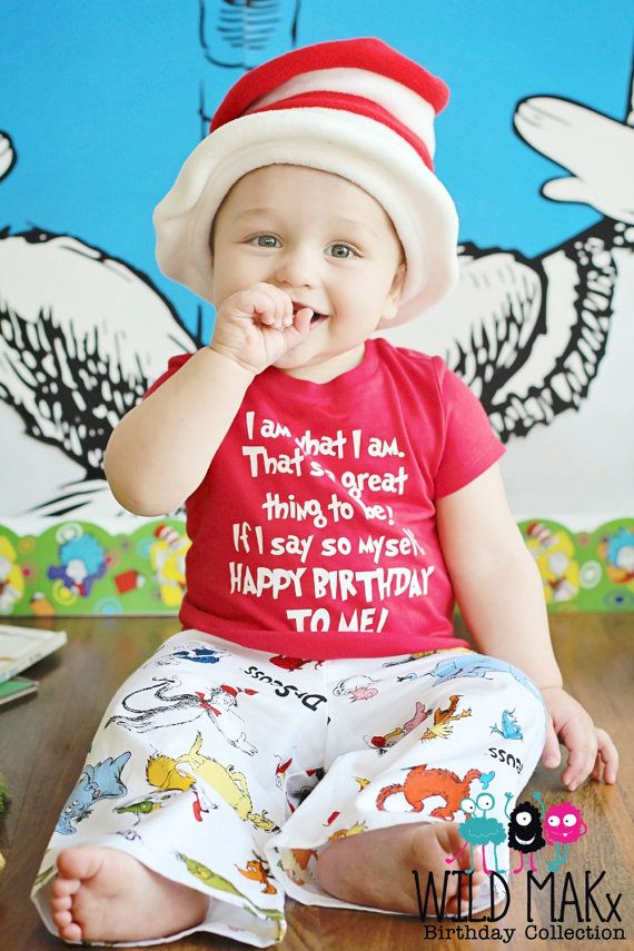 Dr Seuss Inspired Birthday Shirt Happy By Birthdaycouture 2500