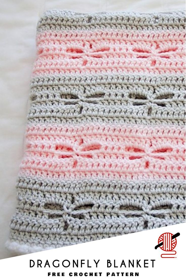 Dragonfly Crochet Blanket [FREE images