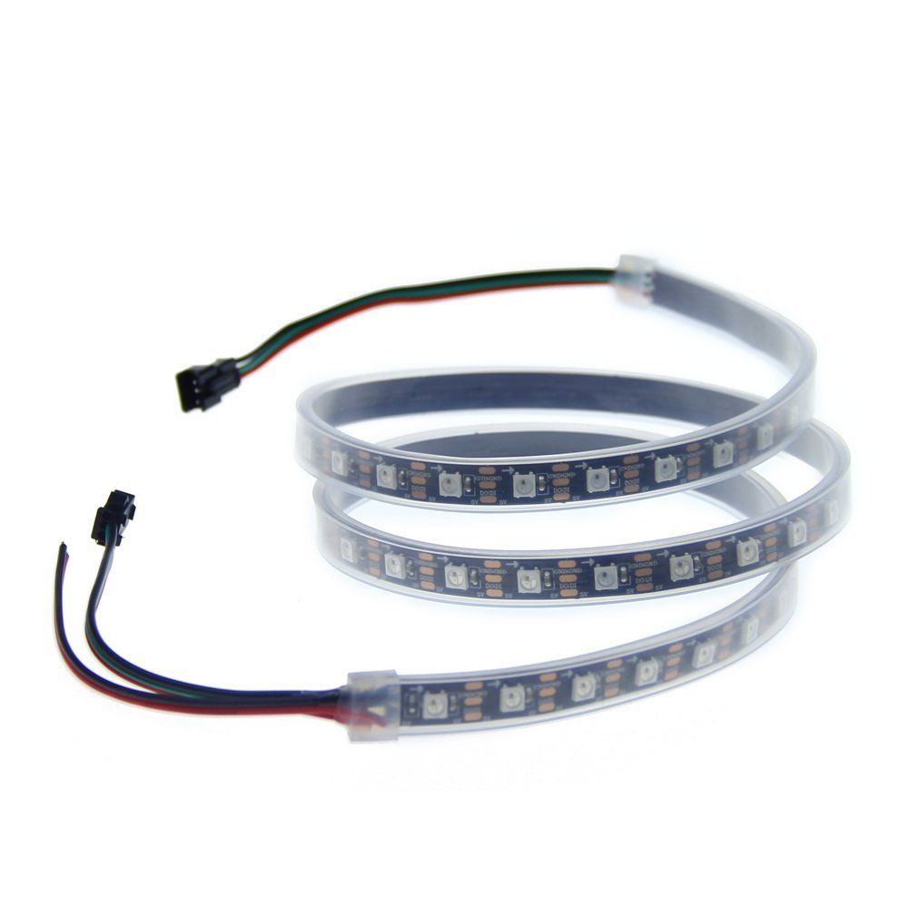 3.2ft 60 Pixels WS2812B WS2811 Individual Addressable 5050 RGB LED ...