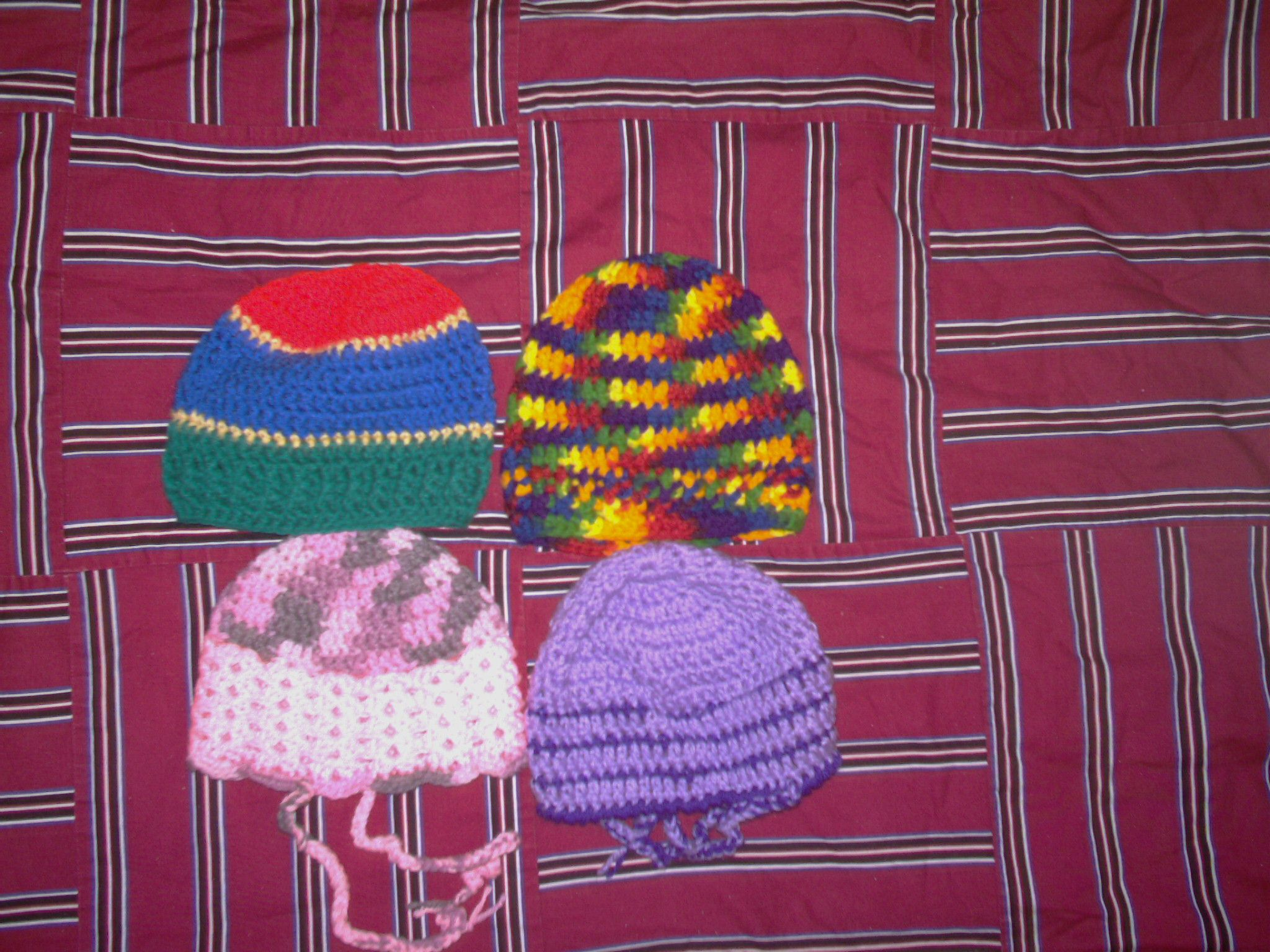 These are for the 4 kids in this group. Hats and Scarves