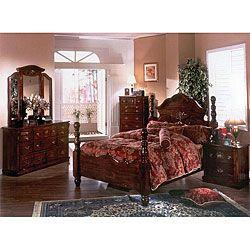 Merveilleux Cannonball Dark Pine King Bedroom Set