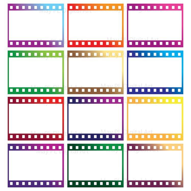 Digital Border Frames 8mm Film Filmstrip Photo Frames Camera ...