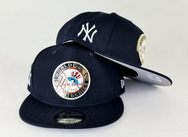 d264a54e98a New Era New York Yankees 1949 World Series Metal Badge Navy 9Fifty Snapback