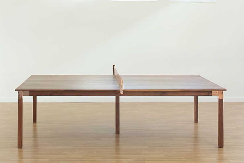 Walnut Dining Table That Can Transform To The Prettiest Ping Pong Ever Board By Design