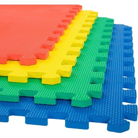 Foam Mat Floor Tiles Interlocking Eva Foam Padding By Stalwart Soft Flooring For Exercising Yoga Camping Kids Babies Playroom 4 Pack Walmart Com Foam Floor Tiles Foam Mat Flooring Foam Flooring