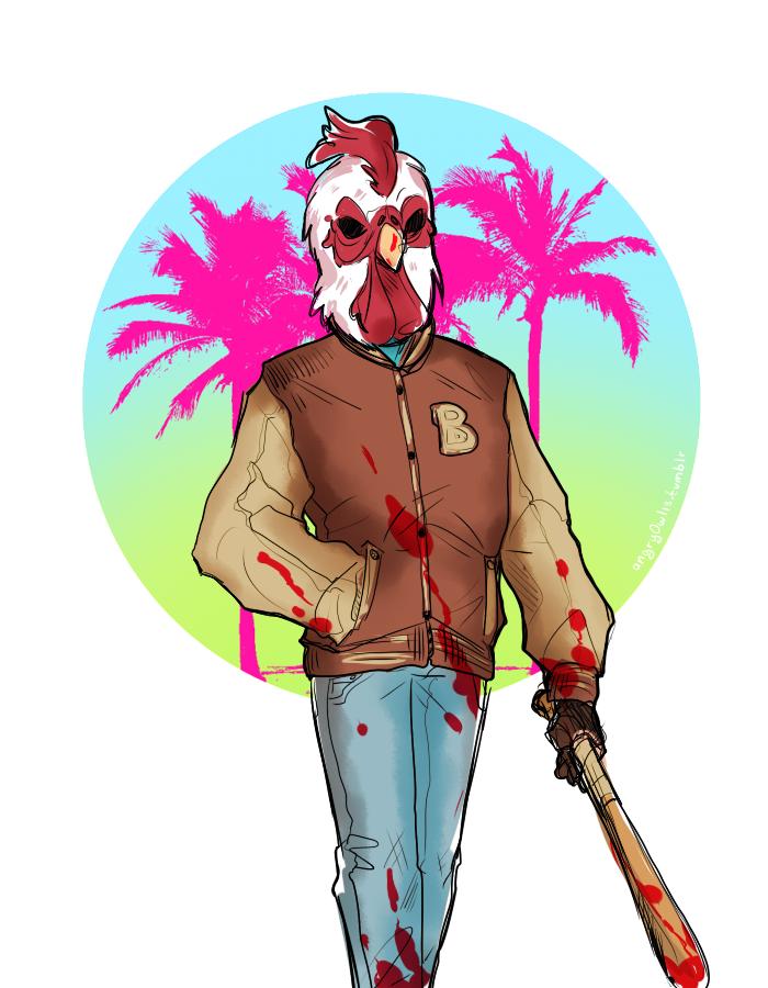 Richard Jacket Hotline Miami By Angry0wl13 Hotline Miami Miami Character