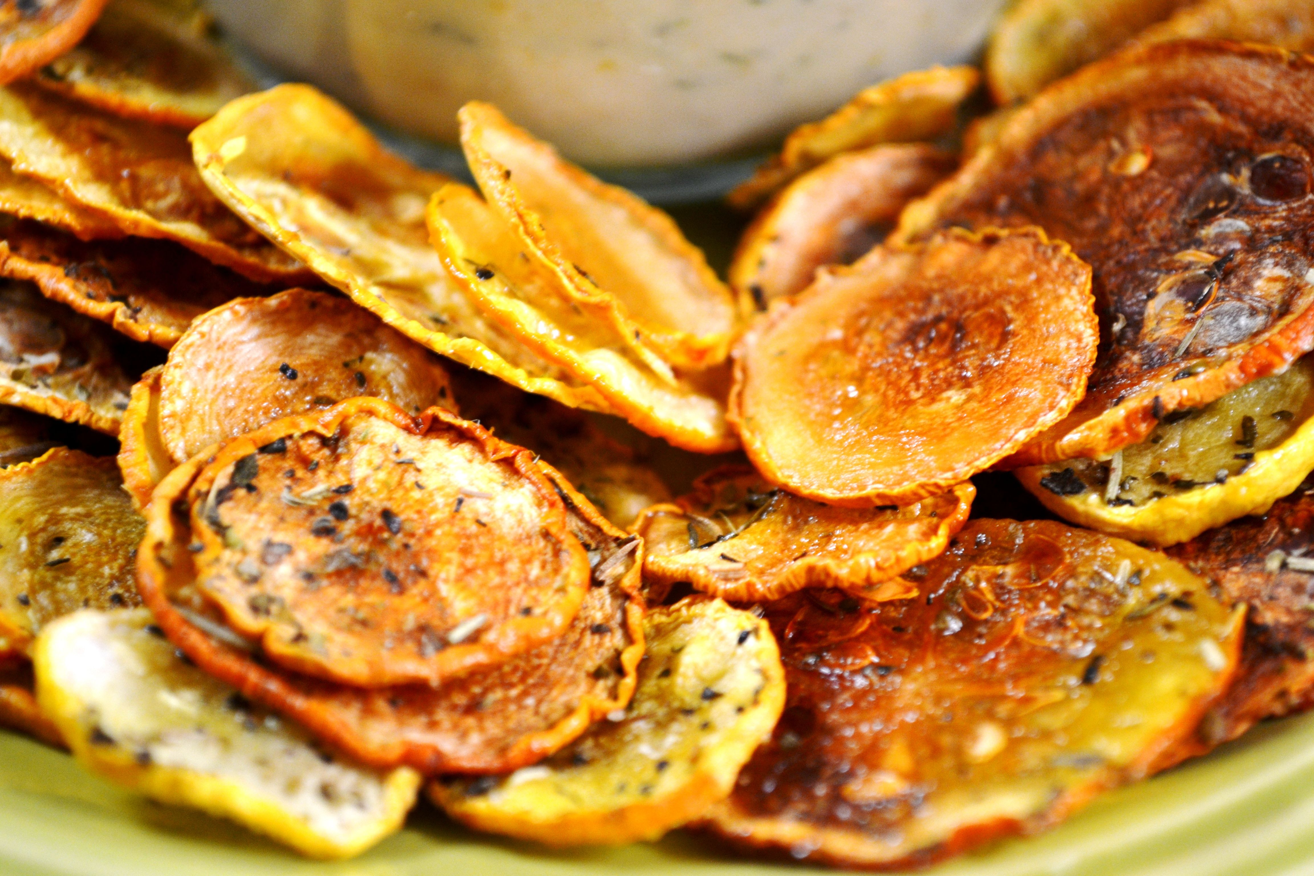 baked squash chips :)