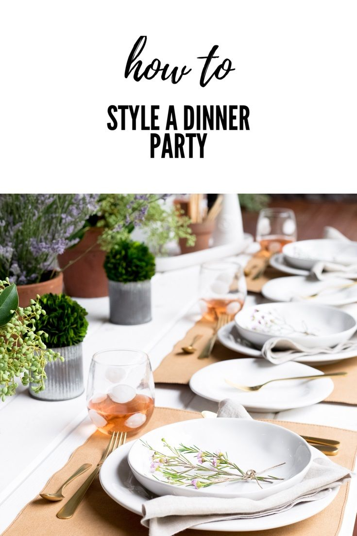 how to style a dinner party styling a table setting a table rh pinterest com