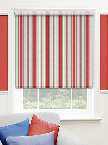 Choices Avenida Stripe Red Roller Blind Red For Control