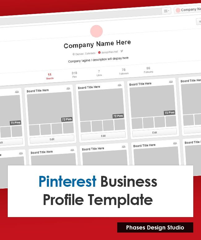 Pinterest Profile Template Free Goodies and Tools for Graphic - profile templates