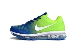 6e4d49ca46fcd Nike Air Max 2017 KPU Royal Blue Green White 849560 300 Trainers Men s  Running Shoes