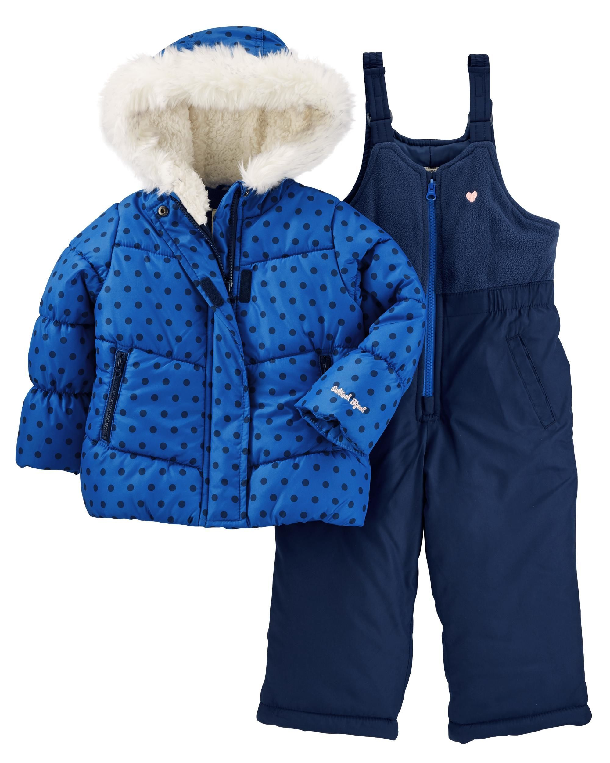 5fd5dc355 Toddler Girl 2-Piece Snowsuit