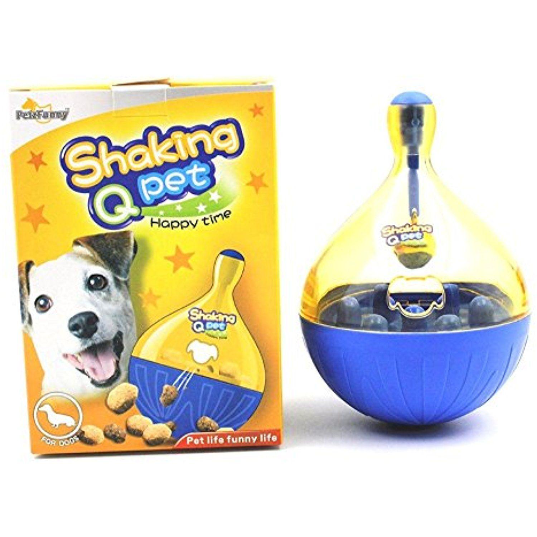 Cfstore Shaking Q Pet Dog Cat Puppy Tumbler Leakage Food