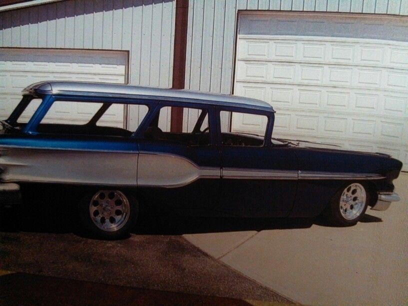 1958 pontiac custom safari station wagon project w gramps cars rh pinterest com