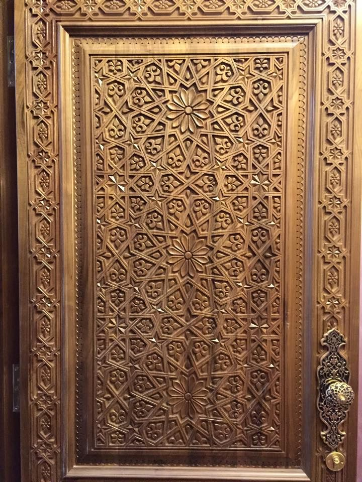 أرابيسك أوزبكستان Arabesques Wooden Door Design Door