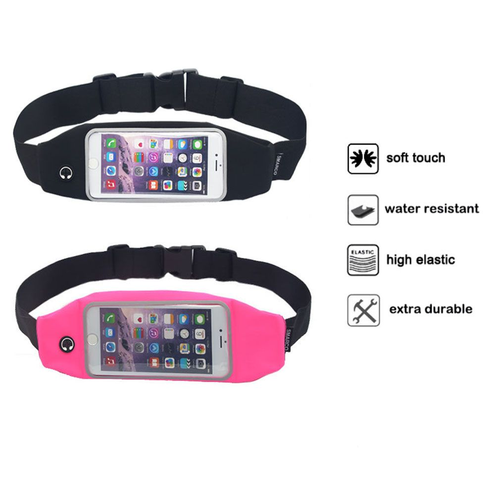 waist pack smarco adjustable and touchscreen running belt for iphone6 ipod keys cash and. Black Bedroom Furniture Sets. Home Design Ideas