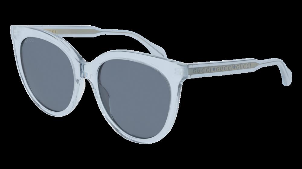 Photo of GUCCI GG0565S CAT EYE Sunglasses For Women – 54-19-145 / GG0565S-003 LIGHT-BLUE LIGHT-BLUE / BLUE TRANSPARENT