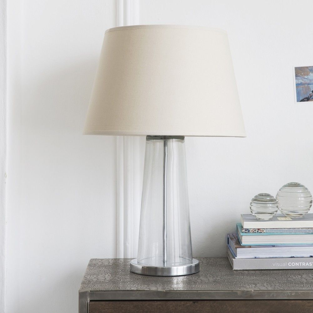 shades bathroom furniture uk%0A Kensington Hand Blown Glass Table Lamp in Silver Includes Shade