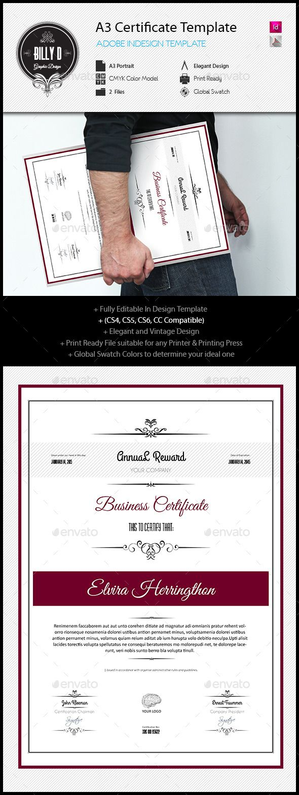 A3 certificate template certificate template and certificate design adobe yelopaper Image collections