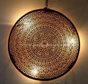 Large Round Moroccan Brass Wall Sconce Brass Wall Sconce Wall