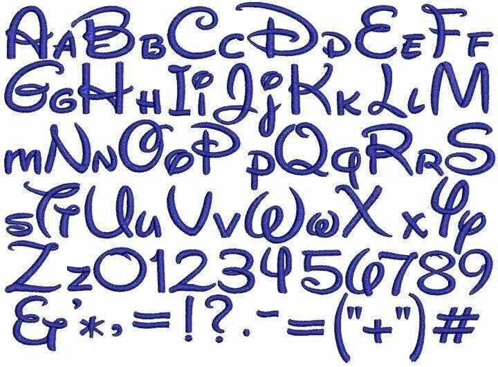 Populaire Cette épinglé est la calligraphie de Disney | calligraphies maman  JL55