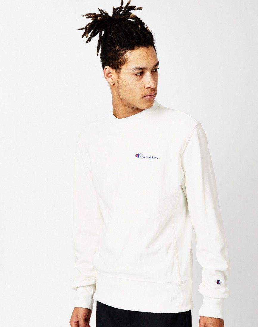 Champion Garment Dyed Classic Crew Sweatshirt Grey | Shop men's ...