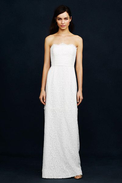 42e58d91b516 J. Crew Eyelash Lace Gown   Beautiful Budget Friendly Wedding ...