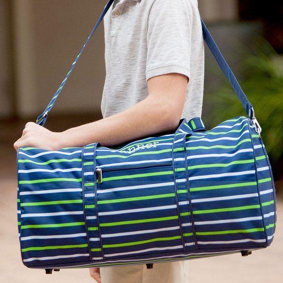 8dd76560f89f Shoreline Duffel Bag. Monogrammed Duffel Bag. Personalized Travel Bag.  Duffel Bag. Boy Duffel Bag. N