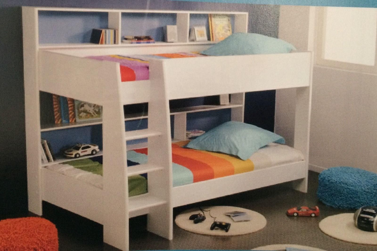 Bunk Bed KING single with Storage White NEW IN BOX