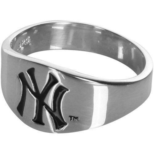 New York Yankees Logo Men S Enamel Band Ring Size 10 By Logo Art 58 95 Youll Score Big We New York Yankees Logo New York Yankees New York Yankees Baseball