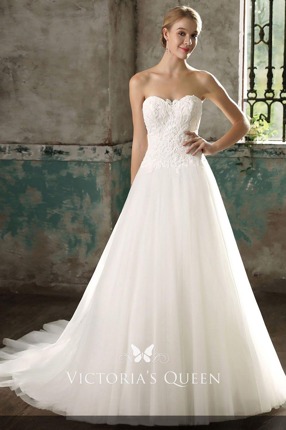 Ivory Sweetheart Neckline Wedding Dresses