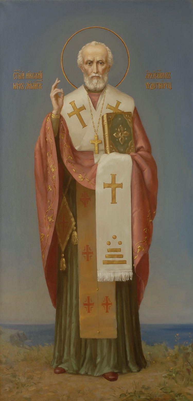 Святитель Николай Чудотворец. Икона корабельной церкви ...