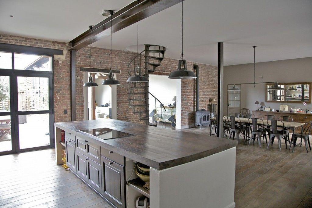 Beautiful Modern Industrial Kitchen Ideas With Black