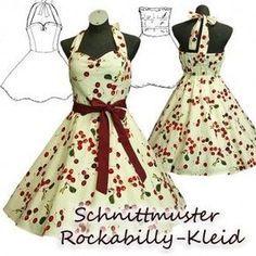 rockabilly kleid schnittmuster
