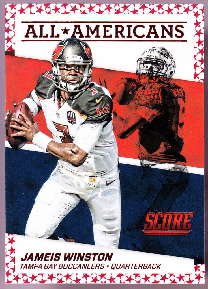 Tampa Bay Buccaneers 2016 Score Jameis Winston All Americans Red Parallel Nmmt Tampabaybuccaneers Football Cards Tampa Bay Buccaneers Football