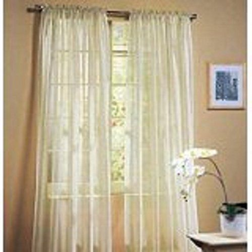online desire pc solid cream long elegant sheer curtains fully stitched panels window treatment drapes