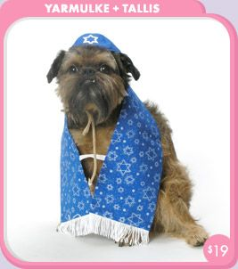 Designer Dog Yarmulke and Tallis Costume