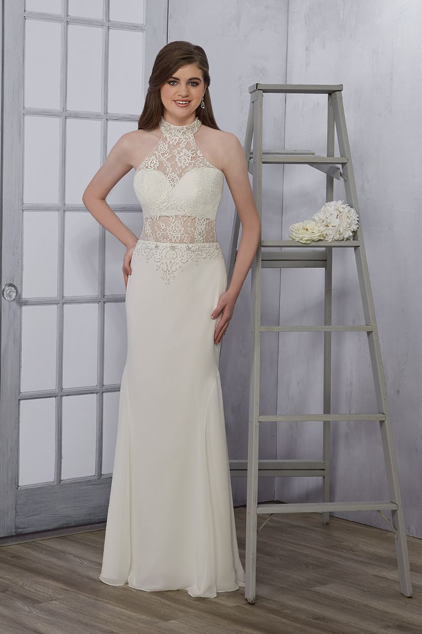 Lace wedding dress v neck november 2018 Wedding gown by Maryus Bridal Informals  Wedding Gowns  Pinterest