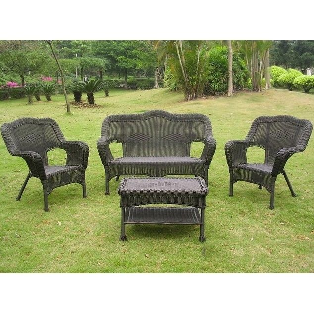 international caravan chelsea resin wicker 4 piece conversation set rh pinterest com