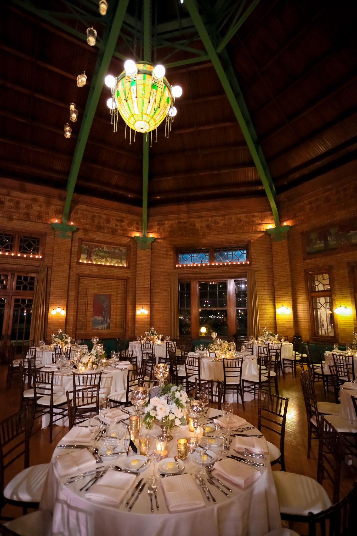Cafe Brauer Is A Dream Blisschicago Weddings Tables Decor Candles Lighting Cool Chandeliers Wedding Lights Chandelier Design